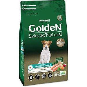 Ração Golden Seleção Natural para Cães Adultos Porte Pequeno Mini Bits Frango e Arroz