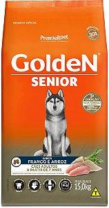 Ração Golden Formula Senior para Cães Frango e Arroz 15kg