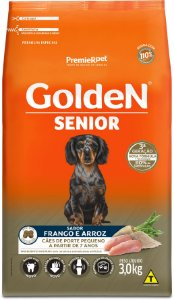 Ração Golden Formula Senior para Cães Porte Pequeno Mini Bits Frango e Arroz