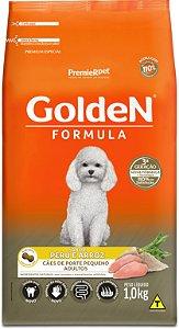 Ração Golden Formula para Cães Adultos Porte Pequeno Mini Bits Peru e Arroz