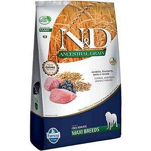 Ração ND N&d Ancestral Grain Low Grain para Cães Adultos Cordeiro Maxi Breeds Raças Grandes 10kg