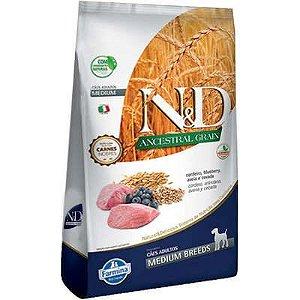 Ração ND N&d Ancestral Grain Low Grain para Cães Adultos Cordeiro Medium Breeds Raças Médias