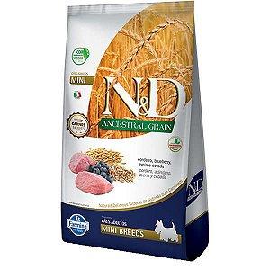 Ração ND N&d Ancestral Grain Low Grain para Cães Adultos Cordeiro Mini Breeds Raças Pequenas