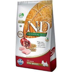 Ração ND N&d Ancestral Grain Low Grain para Cães Adultos Frango Mini Breeds Raças Pequenas