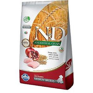 Ração ND N&d Ancestral Grain Low Grain para Cães Filhotes Frango Medium Breeds Raças Médias