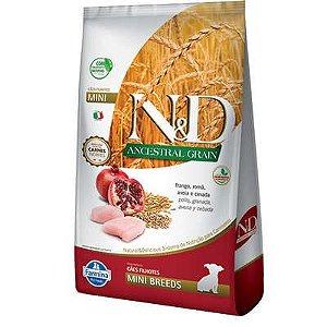 Ração ND N&d Ancestral Grain Low Grain para Cães Filhotes Frango Mini Breeds Raças Pequenas