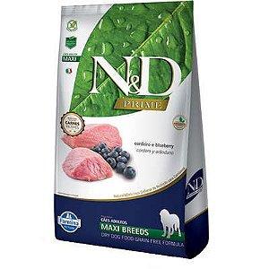 Ração ND N&d Prime Grain Free para Cães Adultos Cordeiro Maxi Breeds Raças Grandes 10kg
