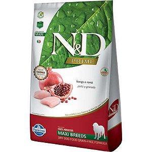 Ração ND N&d Prime Grain Free para Cães Adultos Frango Maxi Breeds Raças Grandes 10kg