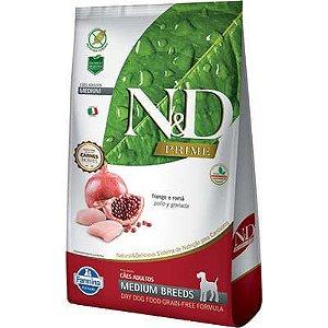 Ração ND N&d Prime Grain Free para Cães Adultos Frango Medium Breeds Raças Médias