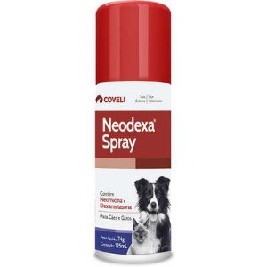 Antibiotico Neodexa Spray para Cães e Gatos 74g 125mL