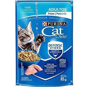 Cat Chow Sachê Gato Adulto Peixe 85g