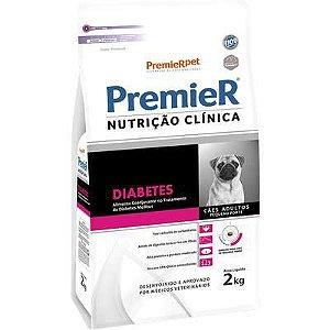 Ração Premier Nutrição Clínica para Cães Pequeno Porte Diabetes 2kg