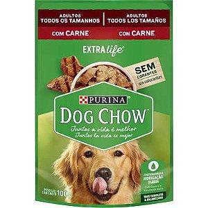 Dog Chow Sachê Câes Adultos Carne 100g