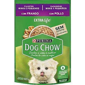 Dog Chow Sachê Câes Filhotes Minis e Pequenos Frango 100g
