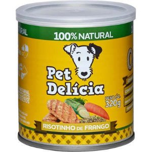 Ração Úmida Pet Delícia Cães Natural Risotinho de Frango Fácil Digestão