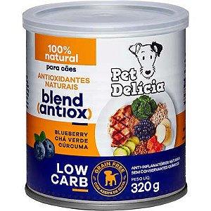 Ração Úmida Pet Delícia Cães Natural Low Carb Antiox 320g
