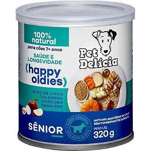 Ração Úmida Pet Delícia Natural Happy Oldies com Colágeno para Cães Sênior 320g