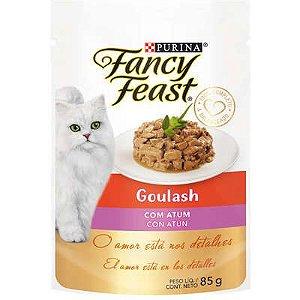 Racão Úmida Purina Fancy Feast Sachê Goulash com Atum para Gatos Adultos 85g