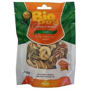 Petisco Bio Dog Gourmet Loop Sabor Frango para Cães 100g