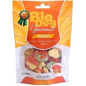 Biscoito Bio Dog Gourmet Biscuit com Tiras Sabor Frango para Cães 100g