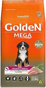 Ração Golden Mega para Cães Filhotes Porte Grande Frango e Arroz 15kg
