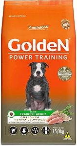 Ração Golden Power Training para Cães Adultos Frango e Arroz 15kg