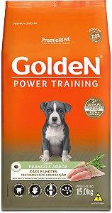 Ração Golden Power Training para Cães Filhotes Frango e Arroz 15kg