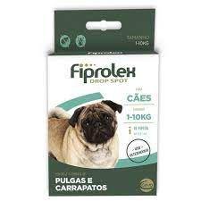 Antipulgas e Carrapatos Fiprolex para Cães de 1kg a 10kg  1Un