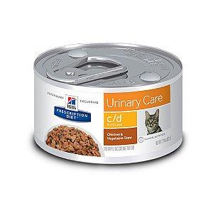 Ração Hill's Prescription Diet Sabor Frango & Vegetais c/d Multicare para Gatos - Cuidado Urinário 82g