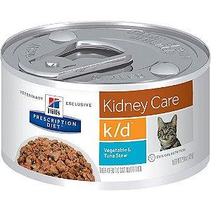 Ração Hill's Prescription Diet Lata Sabor Atum k/d para Gatos - Cuidado Renal 82g