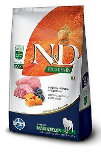 Ração ND N&D Pumpkin Grain Free para Cães Adultos Cordeiro Maxi Breeds Raças Grandes 10Kg