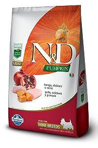 Ração ND N&D Pumpkin Grain Free para Cães Adultos Frango Mini Breeds Raças Pequenas