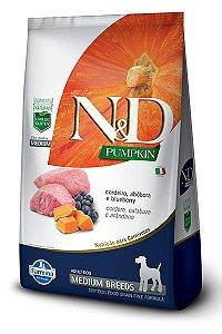 Ração ND N&D Pumpkin Grain Free para Cães Adultos Cordeiro Medium Breeds Raças Médias 10kg