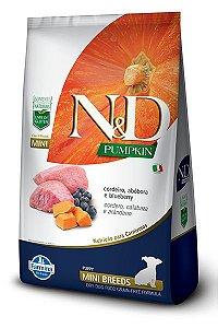 Ração ND N&D Pumpkin Grain Free para Cães Filhotes Cordeiro Mini Breeds Raças Pequenas