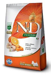 Ração ND N&D Pumpkin Grain Free para Cães Adultos Peixe Mini Breeds Raças Pequenas