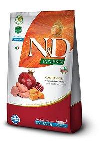 Ração ND N&D Pumpkin Grain Free para Gatos Adultos Castrados Frango
