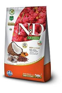 Ração ND N&D Quinoa Grain Free para Gatos Skin Coat Adultos Peixe