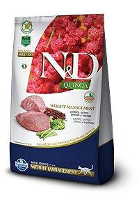 Ração ND N&D Quinoa Grain Free para Gatos Weight Management Adultos Cordeiro
