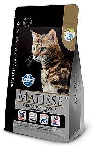 Ração Matisse para Gatos Adultos Castrados Frango