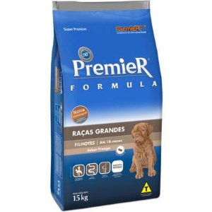 Ração Premier Formula para Cães Filhotes Raças Grandes Sabor Frango 15kg