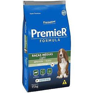 Ração Premier Formula para Cães Adultos Light Raças Médias Sabor Frango 15kg