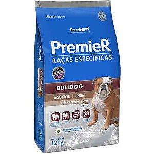 Ração Premier Raças Específicas para Cães Adultos Bulldog Sabor Frango 12kg