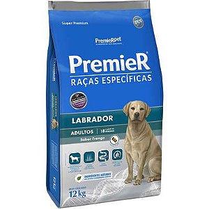 Ração Premier Raças Específicas para Cães Adultos Labrador Sabor Frango 12kg