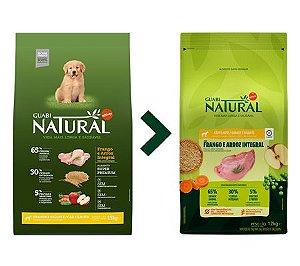 Ração Guabi Natural para Cães Filhotes Porte Grande e Gigante Sabor Frango e Arroz Integral