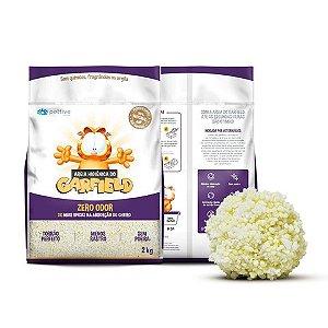 Areia Higienica Garfield Biodegradavel Grossa para Gatos 2kg