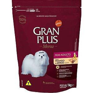 Ração Affnity Gran Plus Menu para Cães Mini Adultos Sabor Frango e Arroz