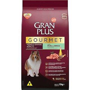 Ração Affnity Gran Plus Gourmet para Cães Médios e Grandes Adultos Sabor Peru e Arroz 15kg