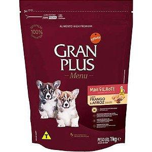 Ração Affnity Gran Plus Menu para Cães Mini Filhotes Sabor Frango e Arroz