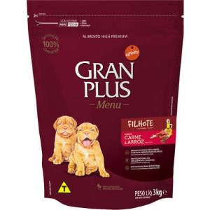 Ração Affnity Gran Plus Menu para Cães Médios e Grandes Filhotes Sabor Carne e Arroz