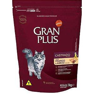 Ração Affnity Gran Plus para Gatos Castrados Adultos Sabor Frango e Arroz